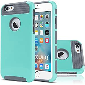 iPhone 6 Plus Case (5.5 inch),Keetech[Slim Hybrid Dual Layer] Heavy Duty Case Cover for Apple iPhone 6 Plus and iPhone 6s Plus 5.5 inch (Mint-Gray)