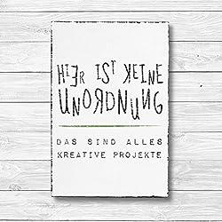 Hier ist keine Unordnung - Dekoschild Wandschild Holz Deko Wand Schild 20x30cm Holzdeko Holzbild Geschenk Mitbringsel Geburtstag
