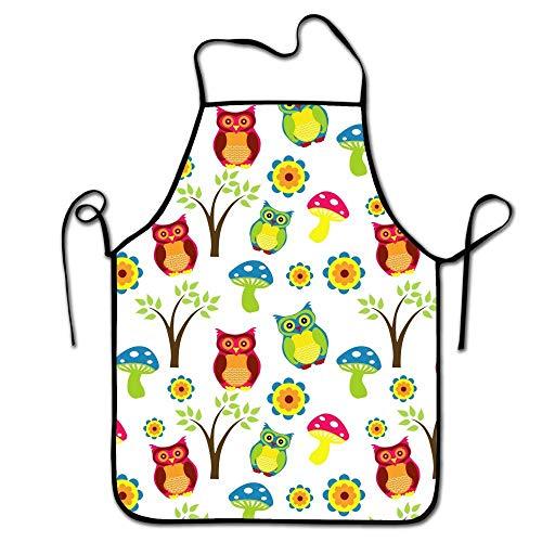 Jhonangel Berufskarikatur-Nette Eulen und Baum-justierbare Bügel-Schellfisch-Schutzbleche für das kochende Küchen-Restaurant, dauerhaft und bequem