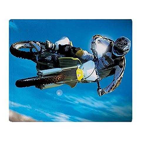 CafePress - Motocross Side Trick - Soft Fleece Throw Blanket, 50
