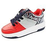 Heelys 771070P, Mädchen Lauflernschuhe Sneakers, Red/Grey/Navy - Größe: 38 EU