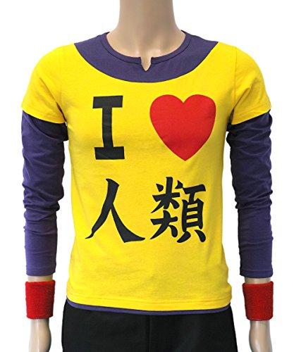 o Life T-Shirt von Sora mit 2 roten Schweißbändern (L) (Halloween-sora Cosplay)