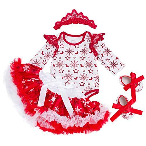 SPFAZJ Weihnachten Baby Herbst Kleid Set Baby Weihnachten -