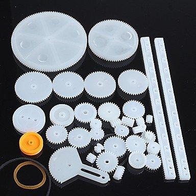34-tipos-de-engranajes-de-plastico-robot-engranaje-del-motor-piezas-del-kit-de-modelo-de-bricolaje