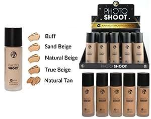 W7 Photo Shoot 16 Hour Budge Proof Foundation - Sand Beige