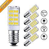 Elfeland 6x E14 LED Lampen LED Mais Glühbirne 4W Ersatz für 35W Halogenlampen led Glühlampen Warmweiß 3000K 400LM 360 ° Strahlwinkel nicht dimmbar Birnen für Deckenlampen, Wandlampen, Tischlampen