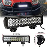elegantstunning 12 Inch 72W CREE LED lavoro Light Bar Spot Flood combinato Offroad Pickup Van ATV 12V