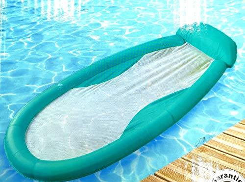 Solax- Sunshine Aufblasbare Wasserhängematte Luftmatratze Wasserbett Pool Bett Lounger 167 x 77 cm (Türkis)