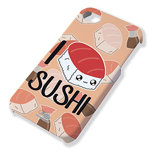"Carcasa para iPhone 4 y 4S ""I Love Sushi 'Chibi y Kawaii by Fluffy Chamalow – Chamalow Shop"