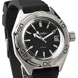 Vostok #670922 Classic Amphibian Mechanical Automatic Russian Wrist Watch 2416B Movement Resin Strap