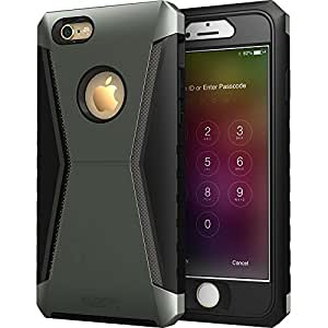 iPhone 6 Case, ESR iPhone 6/ 6s Case Heavy Duty with Detachable Sturdy Front Cover Frame & HD Clear Glass Screen Protector for 4.7 inches iPhone 6/ iPhone 6s Drop Test Passed -(Racer Ninja Grey)
