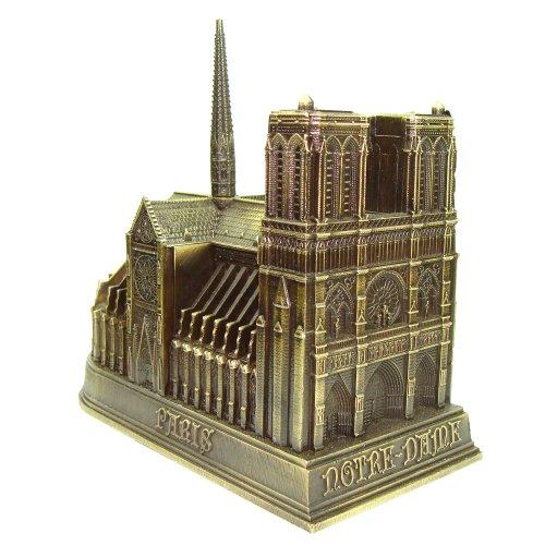 Souvenirs de France - Notre-Dame de Paris Miniature Métal - Couleur : Bronze - Taille : 4 cm