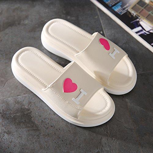 TMKOO& L'amour d'été nouvelle mode porter des sandales à talons hauts et des pantoufles glisser couple de femmes sandales en plein air A