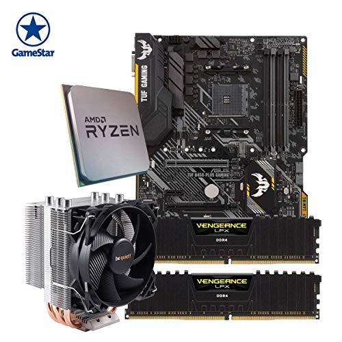 ONE GameStar-Upgradekit XXL Ryzen 7 2700 | AMD Ryzen 7 2700 | 16 GB DDR4 Corsair Arbeitsspeicher | ASUS B450 Mainboard | Be Quiet! Prozessorkühler | Vormontiert | 24 Monate Garantie