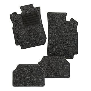 CarFashion 254646 Auto Fussmatten Set ohne Mattenhalter BasicRips-Textil, Schwarz, 4-teilig