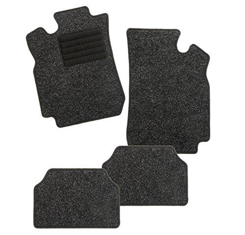 Preisvergleich Produktbild CarFashion BasicRips B02, Auto Fussmatte mit Einfachrippe in anthrazit, vorne und hinten, ohne Mattenhalter