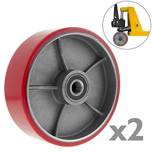 Paletten Fixierer Rad für Hubwagen Polyurethan Rolle 180x50 mm 900 Kg 2-pack