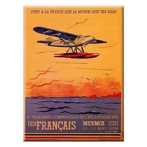 Souvenirs of France-Mermoz Metall Karte und Poster, metall, mehrfarbig, 15.75