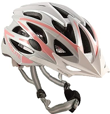 AWE Aerolite Women's Pink Lady Bicycle Helmet - White/Pink, Size 56-58 by AWE Aerolite