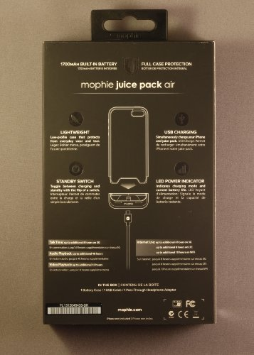 Mophie Juice Pack Air Compact Battery Case (1700mAh) for iPhone 5 / 5S / SE- Black