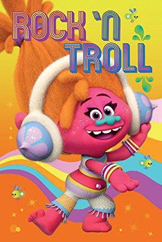 Trolls Poster DJ Rock´n Troll (61cm x 91,5cm) + 1 Traumstrand Poster Insel Bora Bora zusätzlich