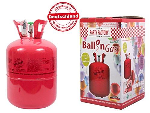 Alsino Heliumgasflasche 50 Ballons Heliumgas Helium Gasflasche Ballongas Einweg, wählen:0.42 m³ ( 50 Ballons )