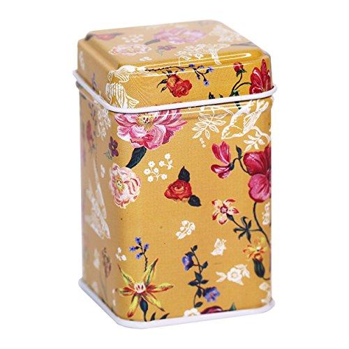 CARMANI - Natur inspiriert Muster Sammlerstück Mini Metall Trinket Tobacco Süßigkeiten Zinn Schmuck Fall Münze Teebehälter Micro Schatz Aufbewahrungsbox mit Deckel -