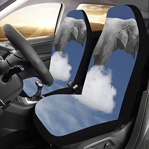Suv Fundas para asientos para mujeres Un lindo bebé elefante flotante Universal Fit Auto Fundas para asientos de automóviles Protector para auto camión Suv Vehículo Mujeres Señora (2 delanteras) Cub