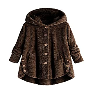 YIHANK Fashion Women Button Coat,Fluffy Tail Tops Hooded Pullover Loose SweaterGet Up App Local at Space Burlington Biker Awlgrip Wiki Guys Bed Drop Locations Inc Oven