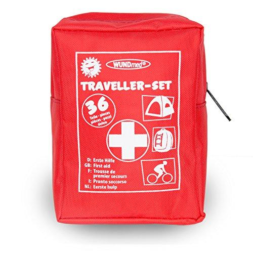 Das Erste Hilfe Set für (Reisen, Outdoor, Sport)| die Sicherheit in kleiner Verpackung mit Erste Hilfe Karte | überall zu verstauen (Erste Hilfe set mit Rettungsdecke und Handschuhen)