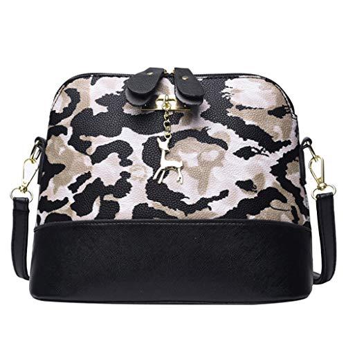 Bfmyxgs Mother es Day Messenger Bag Women Leopard Print Crossbody Bag Fawn Pendant Shell Shoulder Bag Totes Handtaschen Shoulder Bag Backpack Totes Waist Bag Coin Bag. Brustpaket