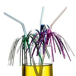Tarjeta Susy 11144953 - pajitas de beber con hoja metálica, flexible, color, variados, 10 piezas , Modelos/colores Surtidos, 1 Unidad