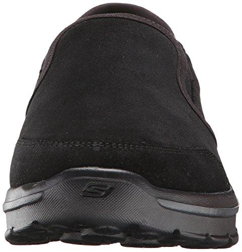 Skechers Go Walk 3task, Baskets Basses homme Noir (bbk)