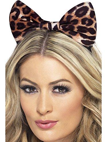 Schleife auf Haarreif mit Gepard Aufdruck, One Size, Braun, 24871 (Gepard Kostüm Ideen)