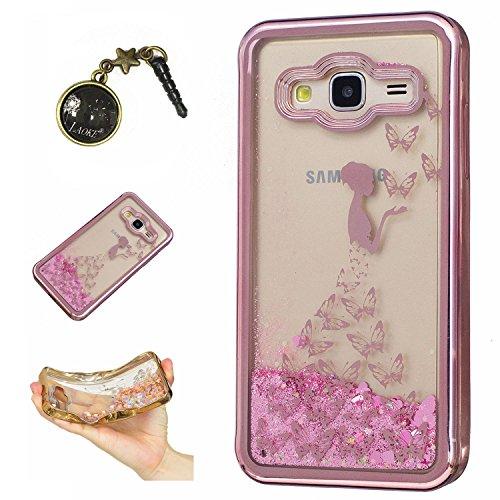 Preisvergleich Produktbild Laoke für Samsung Galaxy J3 (2016) J310 Hülle Schutzhülle Handy TPU Silikon Hülle Case Cover Durchsichtig Gel Tasche Bumper ( + Stöpsel Staubschutz) (3)