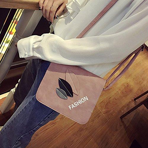Longra Donna Tutto-fiammifero Foglie Piccolo pacchetto Rosa