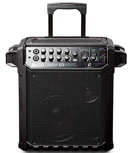 ALTO Professional UBER FX - Tragbare PA-Anlage mit Bluetooth, eingebaute Effekte, wiederaufladbare Batterie, 100 Watt, XLR und Line-Eingang, für großartige Musik, Straßenkünstler, Unterricht, Musiker