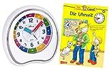 Niños Despertador sin Tic TAC Joven Chica con Libro de Aprendizaje Tiempo de Reloj Aprendizaje–1953–0BU
