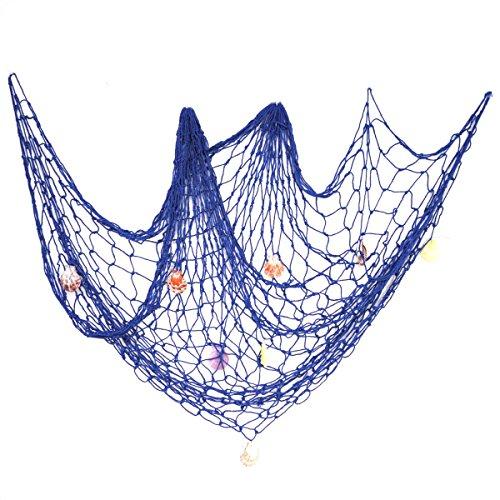 aner Stil Nautisches Dekorative Netze mit Muscheln Haus Dekoration (Blaue Dekorationen Für Partys)