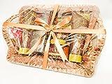 Señoras/mujeres de aceite de argán marroquí Deluxe mimbre Pamper cesta de regalo con cristal esmerilado Elle té luz titulares–celofán y cinta presentado de regalo