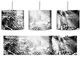 Monocrome, Alte Ruine inkl. Lampenfassung E27, Lampe mit Motivdruck, tolle Deckenlampe, Hängelampe, Pendelleuchte - Durchmesser 30cm - Dekoration mit Licht ideal für Wohnzimmer, Kinderzimmer, Schlafzimmer