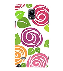 Fuson Premium Printed Hard Plastic Back Case Cover for Samsung Galaxy Note 4