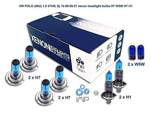 IMIP - SEAT ALHAMBRA | Kit d'ampoules de phares au Xenon Super Blanc H7 W5W H7 H1