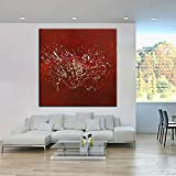 XIAOXINYUAN 100% Handgemalt Öl Malerei Abstrakt Rot Modern Art Wall Original Bild Für Wohnzimmer Sofa Home Decor 80 × 80 cm