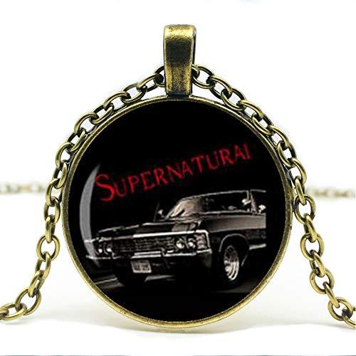 Heißer Verkauf, Übernatürliche Impala Übernatürliche Straße So Far Dean Winchester Auto Sam Halskette Glas Cabochon Halskette.