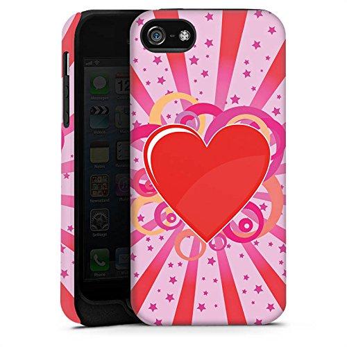 Apple iPhone X Silikon Hülle Case Schutzhülle Herz Muster Bunt Love Explosion Tough Case matt