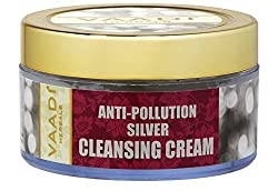 Vaadi Herbals Silver Cleansing Cream, Pure Silver Dust and Sandalwood Oil, 50g