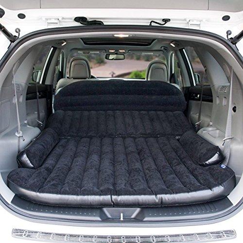 Zoiibuy SUV Colchón de Aire Cama Doble Cama de Coche Portátil para Viajar al Aire Libre, Incluyendo la Bomba de Aire Eléctrico