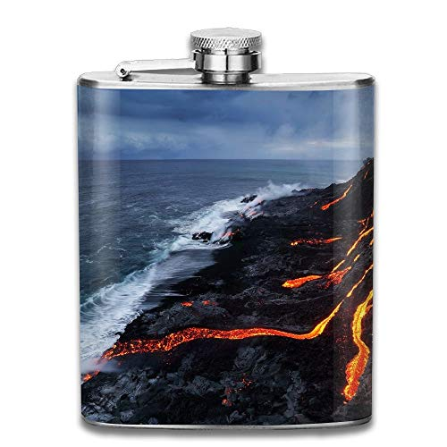 Hoklcvd Nature Lava Sea Bruce Omori Gifts Top Shelf Flasks Stainless Steel Flask