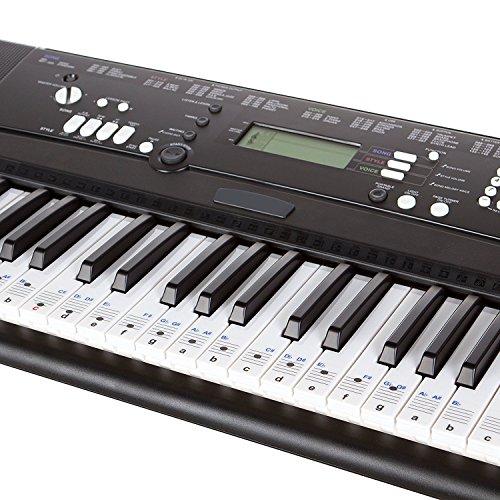 cooldi Piano Aufkleber für Schlüssel-Abnehmbare W/doppelte Schicht Beschichtung für 49/61/76/88Tastaturen - Piano Für Aufkleber Schlüssel